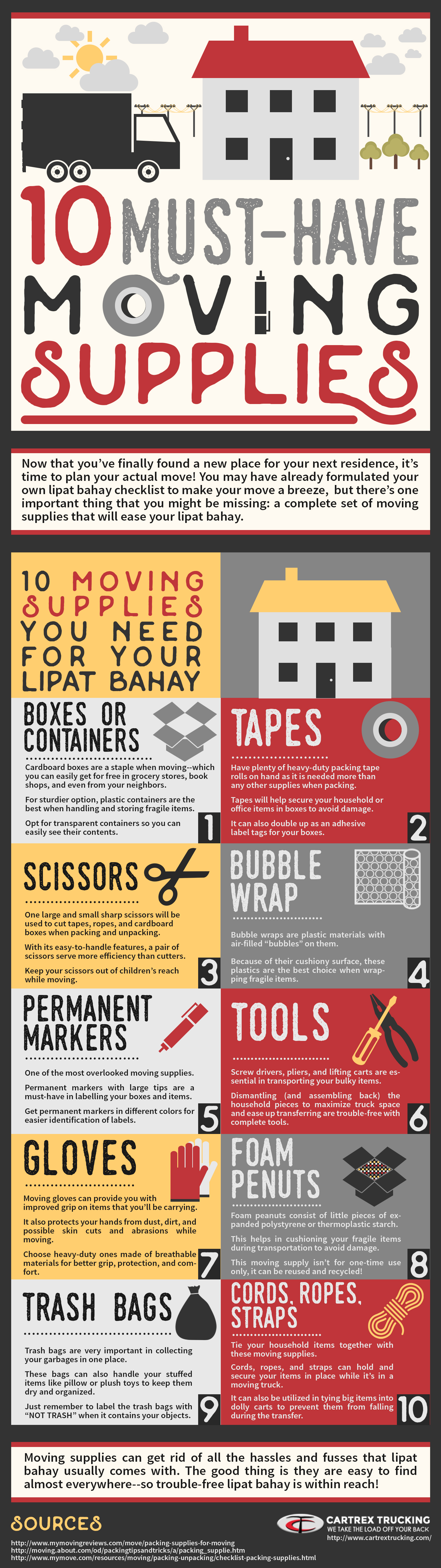 10 Must-have Moving Supplies